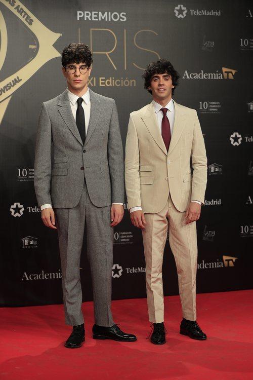 Javier Ambrossi y Javier Calvo en su paso por los Premios Iris 2019