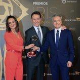 Mónica Carrillo, Matías Prats y Vicente Vallés en los Premios Iris 2019