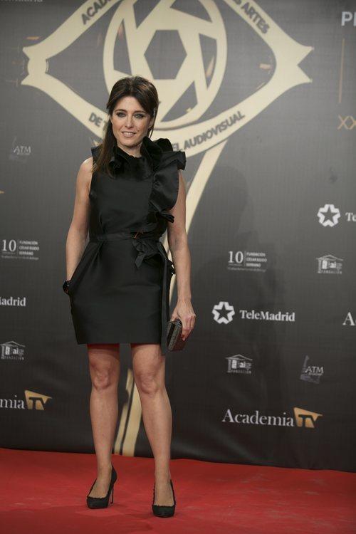 La presentadora Helena Resano en la alfombra roja de los Premios Iris 2019