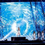 Melani y sus coristas en el primer ensayo de Eurovisión Junior 2019