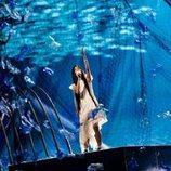 Unas redes con plásticos decoran la actuación de España en Eurovisión Junior 2019