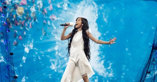 Melani, en el segundo ensayo de Eurovisión Junior 2019