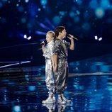 Tatyana y Denberel, representantes de Rusia, en la Gran Final de Eurovisión Junior 2019