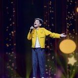 Giorgi Rostiashvili, representante de Georgia, en la Gran Final de Eurovisión Junior 2019