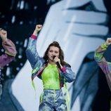 Liza Misnikova, representante de Bielorrusia, en la Gran Final de Eurovisión Junior 2019