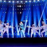 Yerzhan Maksim, representante de Kazajistán, en la Gran Final de Eurovisión Junior 2019