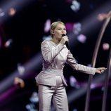 Sophia Ivanko, representante de Ucrania, en la Gran Final de Eurovisión Junior 2019