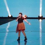 Joana Almeida, representante de Portugal, en la Gran Final de Eurovisión Junior 2019