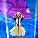 Marta Viola, representante de Italia, en la Gran Final de Eurovisión Junior 2019