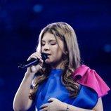 Isea Çili, representante de Albania, en la Gran Final de Eurovisión Junior 2019