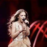 Darija Vracevic, representante de Serbia, en la Gran Final de Eurovisión Junior 2019