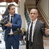 Javier Gutiérrez y Vito Sanz en la 3ª temporada de 'Vergüenza'
