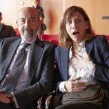 Nuria (Malena Alterio) y Carlos (Miguel Rellán) en la 3ª temporada de 'Vergüenza'