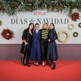 Nerea Barros, Elena Anaya, Anna Moliner y Verónica Echegui posan juntas en la presentación de 'Días de Navidad'