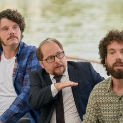 Xosé Antonio Touriñán, Tomás Pozzi y Juan Ibáñez en la segunda temporada de 'Pequeñas coincidencias'