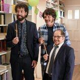 Juan Ibáñez, Xosé Antonio Touriñán y Tomás Pozzi en la segunda temporada de 'Pequeñas coincidencias'