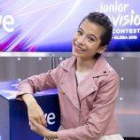 Melani García en la rueda de prensa de RTVE tras su paso por Eurovisión Junior 2019