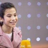 Melani García en la rueda de prensa de RTVE tras el Festival de Eurovisión Junior 2019