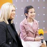 Melani García y Ana María Bordas en la rueda de prensa de RTVE tras Eurovisión Junior 2019