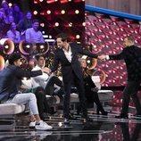 Antonio David Flores, Kiko Jiménez y Jorge Javier Vázquez, en la Gala 13 de 'GH VIP 7'