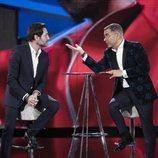 Antonio David Flores y Jorge Javier Vázquez charlan en la Gala 13 de 'GH VIP 7'