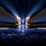Vista frontal del escenario de Eurovisión 2020