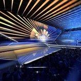 Vista lateral del escenario de Eurovisión 2020
