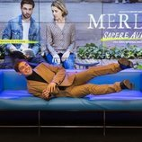 Un simpático Carlos Cuevas en la rueda de prensa de 'Merlí: Sapere Aude' en Barcelona