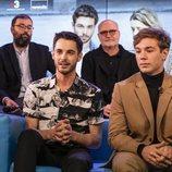 David Solans y Carlos Cuevas, en la rueda de prensa de 'Merlí: Sapere Aude' en Barcelona