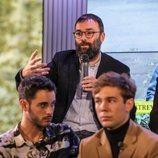 Fran Araújo en la rueda de prensa de 'Merlí: Sapere Aude' en Barcelona
