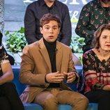 David Solans, Carlos Cuevas y María Pujalte en la rueda de prensa de 'Merlí: Sapere Aude' en Barcelona