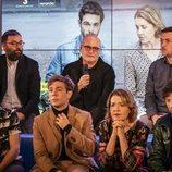 Aitor Montánchez, en la rueda de prensa de 'Merlí: Sapere Aude' en Barcelona
