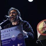 Javier Bardem da un discurso en la manifestación contra el Cambio Climático