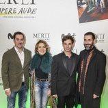 Carlos Cuevas, María Pujalte y Héctor Lozano en la premiere de 'Merlí: Sapere Aude' en  Barcelona
