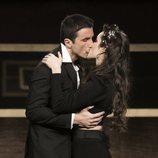 El beso de Hugo y Adara durante la Gala 14 de 'GH VIP 7'
