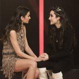 Estela Grande y Adara Molinero, en la sala de expulsión de 'GH VIP 7' en la Gala 14