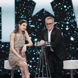 Estela Grande, en plató como expulsada de la Gala 14 de 'GH VIP 7'
