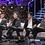Gianmarco Onestini, el Maestro Joao, Hugo Sierra y Hugo Castejón, en la Gala 14 de 'GH VIP 7'