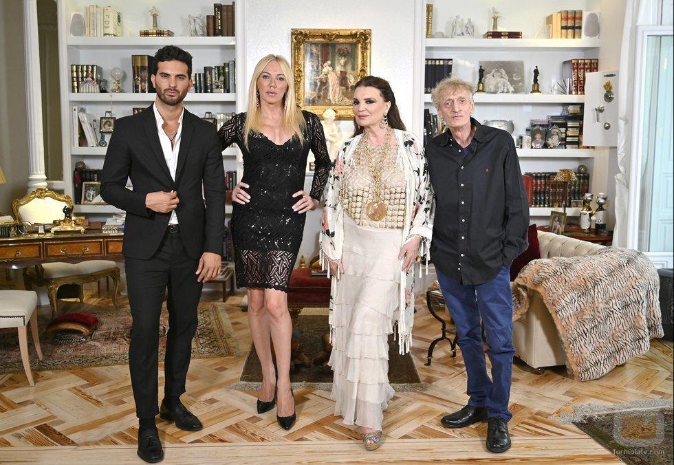 Suso Álvarez, Topacio Fresh, María José Cantudo y Enrique San Francisco en 'Ven a cenar conmigo: Gourmet Edition'