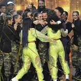 Los concursantes de 'Got Talent España 5' abrazan al padre de Hugo Molina