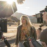 Maggie Civantos, rodando 'Vis a vis: El oasis' en Almería