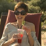 Isabel Naveira como La Flaca en el rodaje de 'Vis a vis: El oasis' en Almería