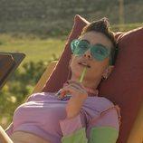 Claudia Riera como Triana en el rodaje de 'Vis a vis: El oasis' en Almería
