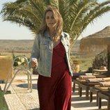 Lisi Linder como Mónica en el rodaje de 'Vis a vis: El oasis' en Almería