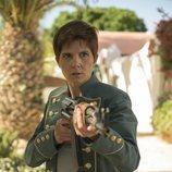 Isabel Naveira es La Flaca en 'Vis a vis: El oasis' en Almería
