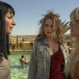Najwa Nimri, Lisi Linder y Maggie Civantos en el rodaje de 'Vis a vis: El oasis'