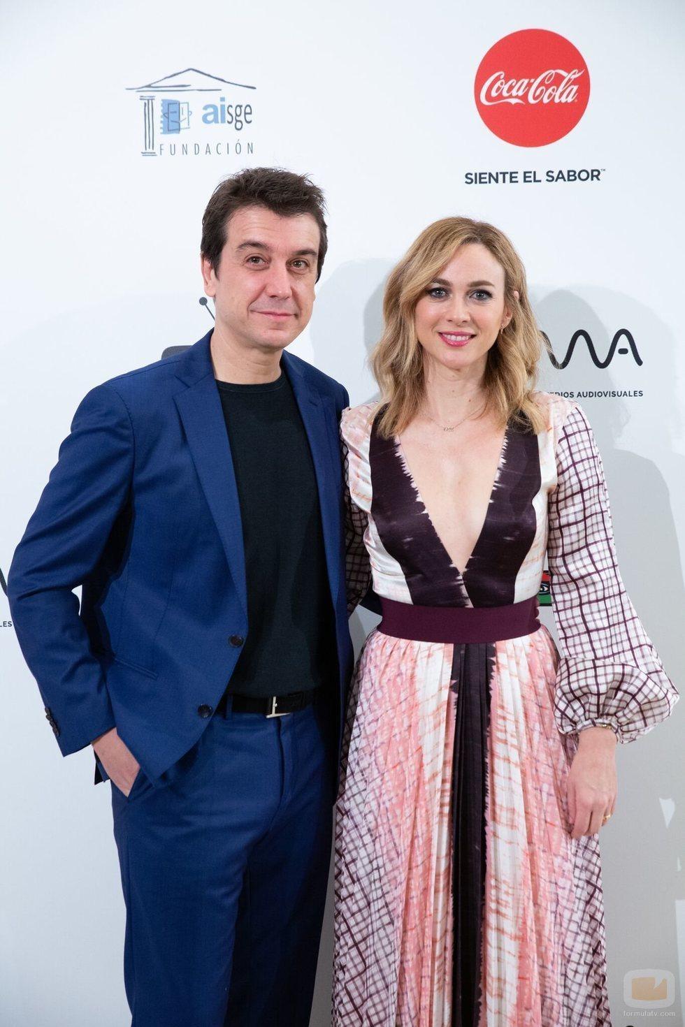 Javier Veiga y Marta Hazas en los Premios MiM 2019