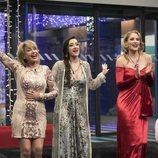 Mila Ximénez, Adara Molinero y Alba Carrillo, en la Gala Final de 'GH VIP 7'