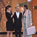 Adara, ganadora de 'GH VIP 7', junto a su madre y Jorge Javier Vázquez