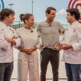 Jordi Cruz, Samantha Vallejo-Nágera, Rafa Nadal y Pepe Rodríguez en 'MasterChef Junior 7'
